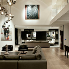 Contemporary Family Room by Daniel Marshall Architect
