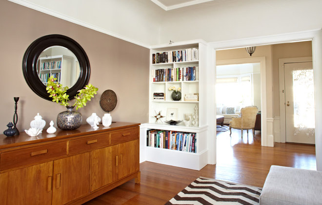 Transitional Family Room by Lucy McLintic