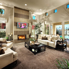 Contemporary Family Room by Danielian Associates Architecture + Planning