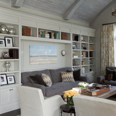 Eclectic Family Room by Elizabeth Reich