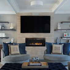 Transitional Living Room by Susan Glick Interiors
