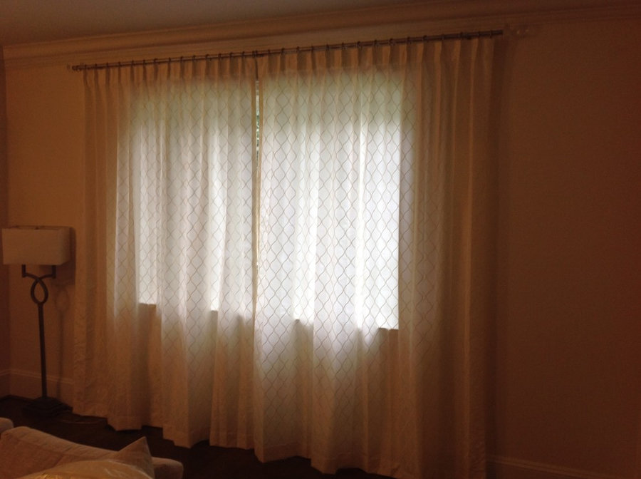 Luxurious Custom Drapes with Semi Sheer Fabric