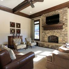Traditional Family Room by Alex Custom Homes, LLC