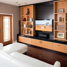 Contemporary Family Room by Kerr Construction