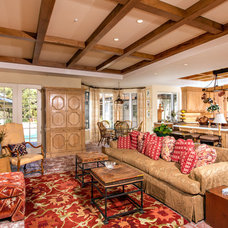 Mediterranean Family Room by Smith Brothers