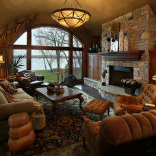 Traditional Family Room by Kamarron Design, Inc.