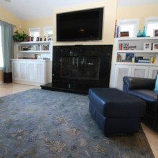 Contemporary Family Room by m.a.p. interiors inc. / Sylvia Beez