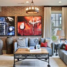 Industrial Family Room by M/I Homes