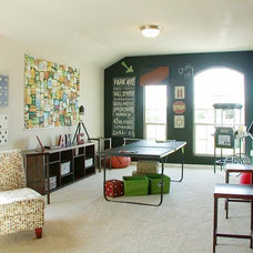 Transitional Family Room by M/I Homes