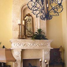 Mediterranean Family Room by DeSantana Stone Company