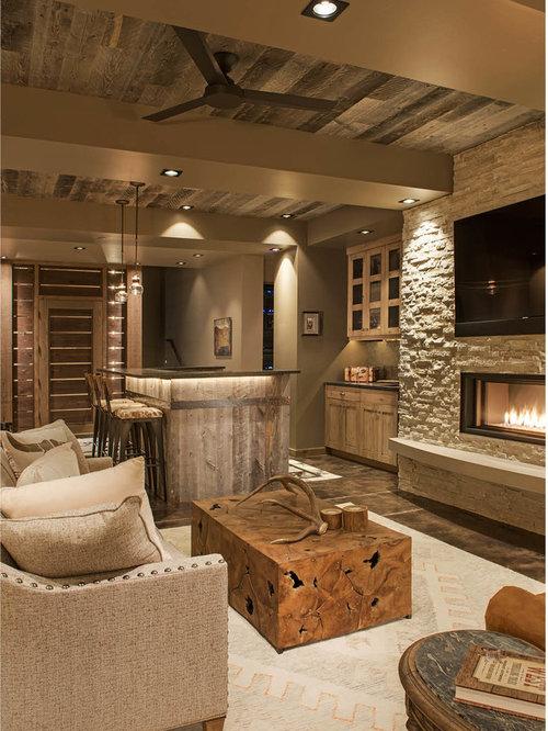 Rustikale Wohnzimmer mit Gaskamin Ideen, Design & Bilder | Houzz