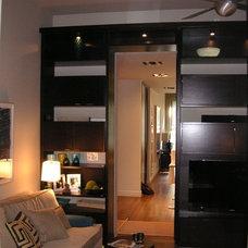 Modern Family Room by Holzman Interiors, Inc.