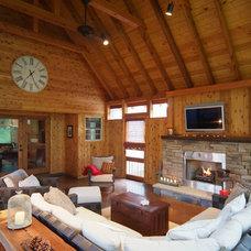 Eclectic Porch by Scott Wilson Architect, LLC