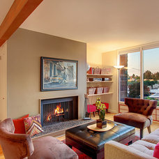 Contemporary Family Room by Seattle Staged to Sell and Design LLC