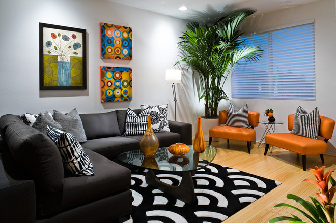 Contemporary Family Room by Michelle Harrison Design
