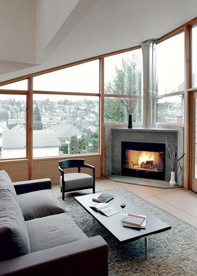 Modern Family Room By David Vandervort Architects