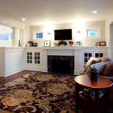 Traditional Family Room by S2 Builders