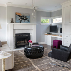 Transitional Family Room by Gregory Carmichael