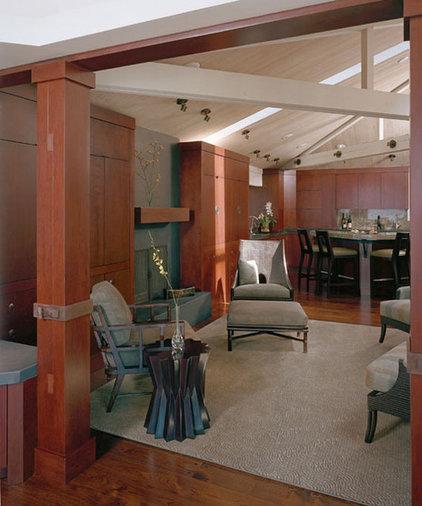 Asian Family Room by Mahoney Architects and Interiors