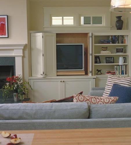 Bifold Doors Hide Tv  Houzz