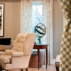 Contemporary Family Room by Leslie Hayes Interiors