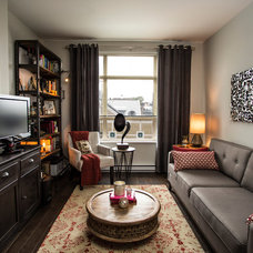Eclectic Family Room by Beyond Beige Interior Design Inc.