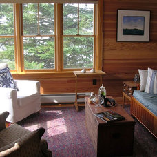 Traditional Family Room Maine Cottage on the Point