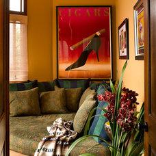 Mediterranean Family Room by Tracy Murdock Allied ASID