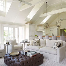 Transitional Family Room by Rill Architects