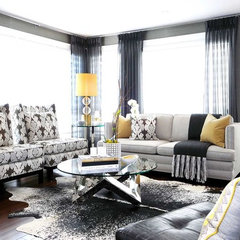 contemporary family room by Atmosphere Interior Design Inc.