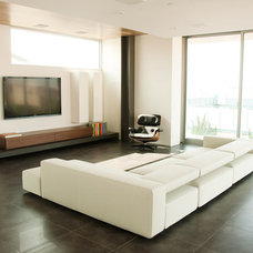 modern family room by See Construction