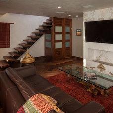 Asian Family Room by Beach House Design & Development