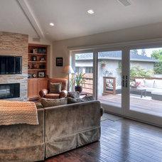 Craftsman Family Room by LuAnn Development, Inc.