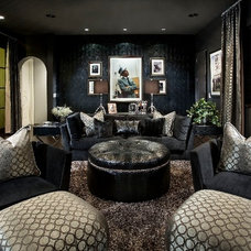 Contemporary Family Room by Charles Glover Interiors