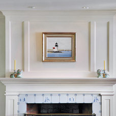 Traditional Family Room by Adam Klyver Architect