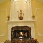 Fireplace Mantle And Window Trimwork