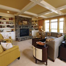 Transitional Family Room by Williamsburg Homes