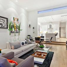 Modern Family Room by American Coastal Properties