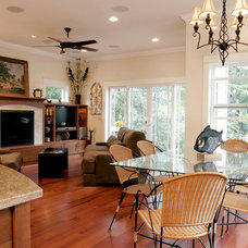 Traditional Family Room by Therese DuBravac