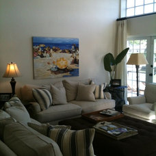 Tropical Family Room by Drew Alan Designs