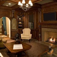 Rustic Family Room by Avondale Custom Homes