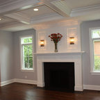 Sophisticated Den Transitional Family Room New