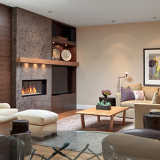 Contemporary Family Room by Paula Arsens Kitchen Design