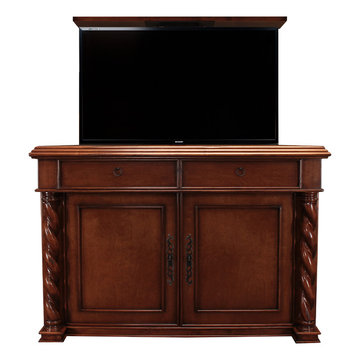 Marin Hidden TV lift cabinet, US Made TV lift cabinet by Cabinet Tronix