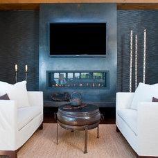 Asian Family Room by Prescott Design Studio, LLC