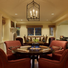 Traditional Family Room by Hilary Young Design Associates