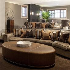 Contemporary Family Room by Marshall Morgan Erb Design Inc.