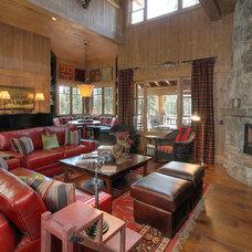 Rustic Family Room by Studio V Interior Design