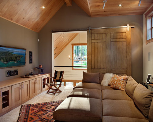 Inspiration for a mid sized contemporary enclosed family room remodel in  San Francisco with brown. Tv Room Sofa   Houzz