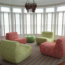 Contemporary Family Room by Alice Sydney, LLC